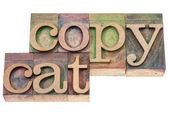 Copycat word in wood type — Stock Photo