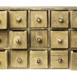 Primitive drawer cabinet - Stock Photo