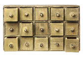 Primitive drawer cabinet — Stock Photo