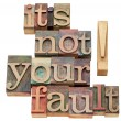 It is not your fault — Stock Photo #17867379