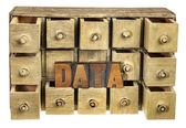 Daten-ablagen-konzept — Stockfoto