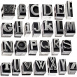 Alphabet in vintage metal type — Stock Photo #18319399