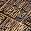 Stock Photo: Lettepress wood type blocks