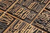 Lettepress wood type blocks — Stock Photo