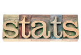Stats in wood type — Stock Photo