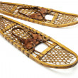 Stock Photo: Vintage bear paw snowshoes