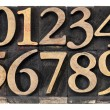 Numbers in wood type — Stock Photo