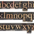 Wood type alphabet — Foto Stock