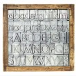 Stock Photo: Metal type alphabet