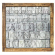 Metal type alphabet — Stock Photo #18826127