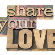 Stock Photo: Share your love