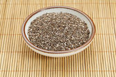Bowl of chia seeds — Stock Photo