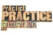 Practice - motivation concept — Stock Photo