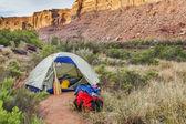 Floden camping i canyonlands — Stockfoto
