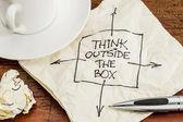 Pensar fora da caixa — Fotografia Stock