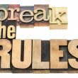 Stock Photo: Break rules