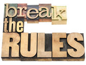 Break the rules — Stock Photo