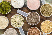Scoops of superfood — Stock Photo