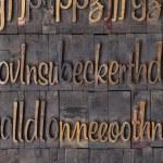 Alphabet in wood type — Stock Photo #20085033