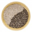 Black and white chia seeds — Stock Photo #20084939