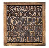 Trä typ nummer i rutan — Stockfoto