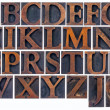 Isolated alphabet in wood type — Stock Photo #20333979