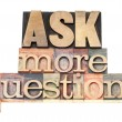 Stock Photo: Ask more questions