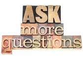 Ask more questions — Stock Photo