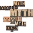 Myth word abstract — Stock Photo