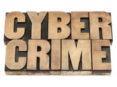 Computercriminaliteit in houtsoort — Stockfoto