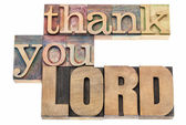 Thank you Lord in wood type — Stock Photo