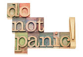 Do not panic — Stock Photo