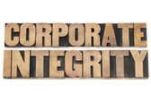 Corporate integrity in wood type — Stock Photo
