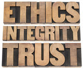 Ethics, integrity, trust — Stock Photo