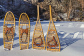 Vintage snowshoes — Stock Photo
