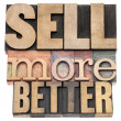 Stock Photo: Sell more better in wood type