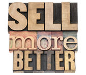 Sell more better in wood type — Stock Photo