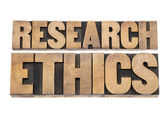 Research ethics in wood type — Stock Photo