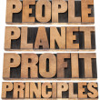 Planet, profit, principles — Stock Photo #21838093