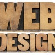 Stock Photo: Web design letterpress wood type