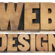 Web design letterpress wood type - Stock Photo