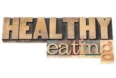 Gesund essen in Holz-Art — Stockfoto