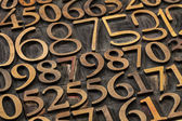 Number abstract — Stock Photo