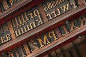 Tiroirs de typographe — Photo