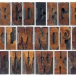 Stock Photo: Antique wood type alphabet