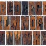 Antique wood type alphabet — Stock Photo #22481651