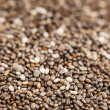 Chia seeds close-up — Stock Photo