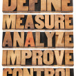 Define, measure, analyze, improve, control — Stock fotografie #23098044