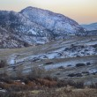Winter dusk at mountain valley — Stock Photo