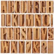 Letterpress wood type alphabet — Stock Photo #23111368